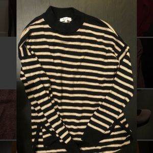 Mock neck Madewell Striped Sweater